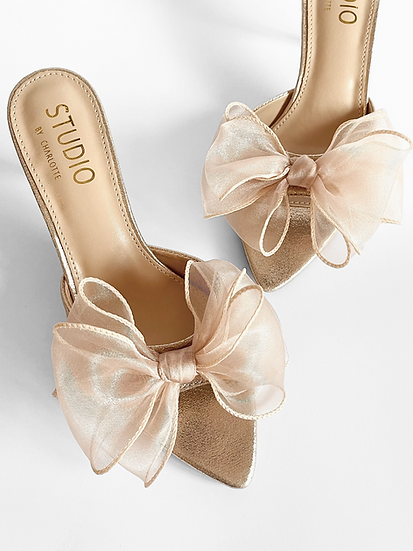 Cali Mules | Champagne Shimmer