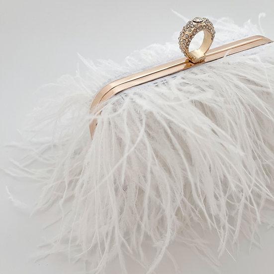 Aphrodite | Feather Clutch