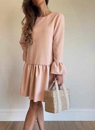 Primrose Ruffle Dress   Ballet Pink