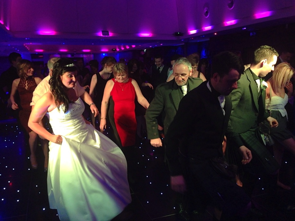 Bridal party whooping it up!