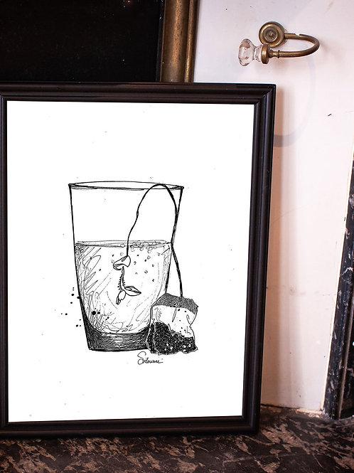 affiche poisson d'avril avec cadre