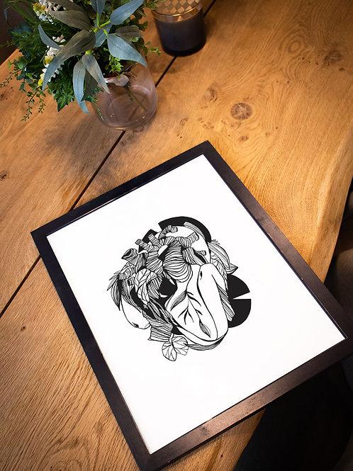 affiche love illustration anatomie