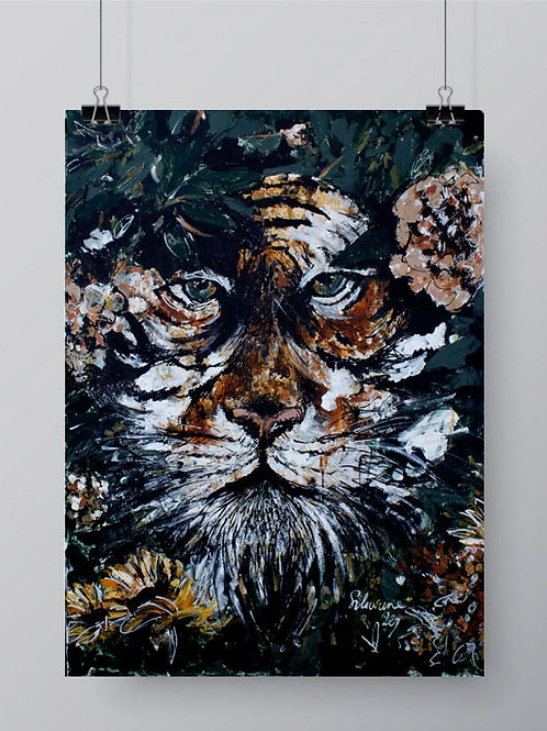affiche tigre jungle