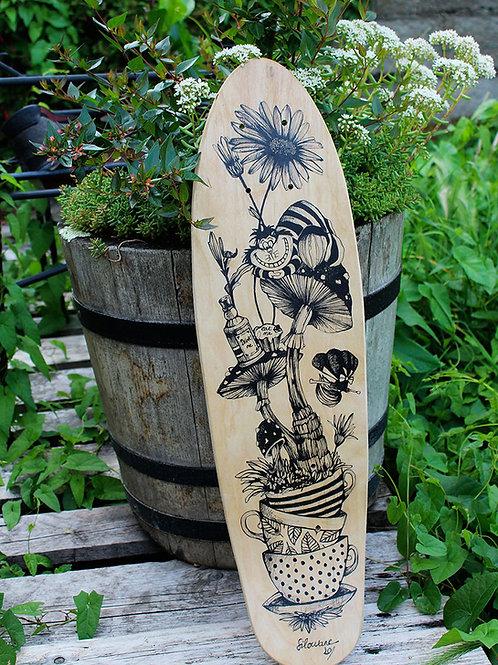 planche de skate illustration alice
