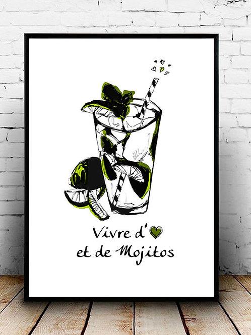 affiche mojito - illustration cocktail