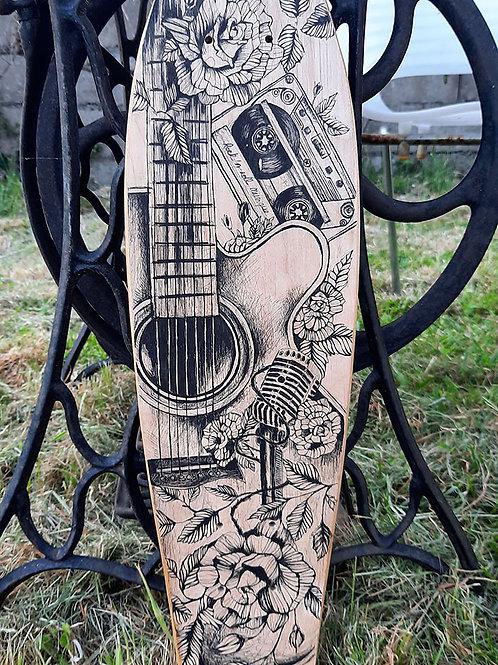 skateboard illustration musique