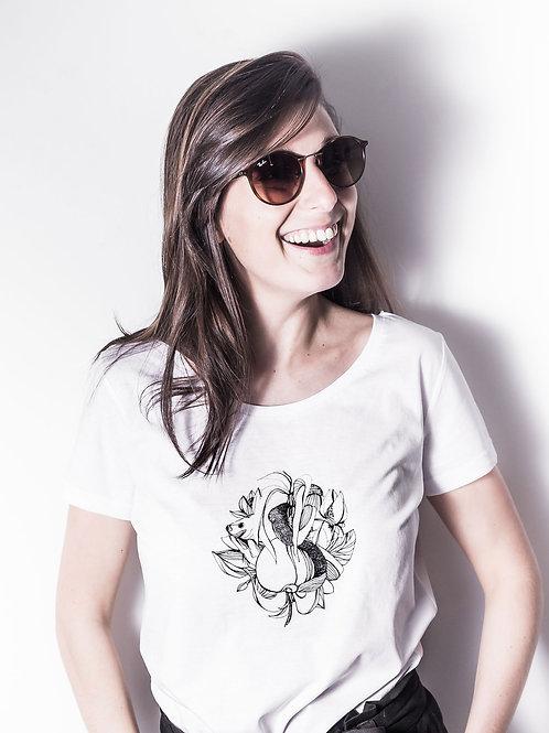 """Look lunette de soleil et tee-shirt blanc imprimé """"Fruits"""""""
