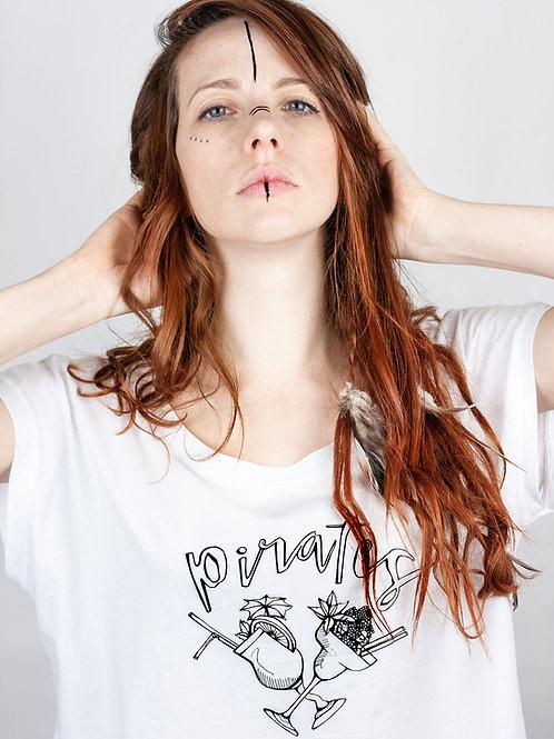 Tee shirt blanc PIRATES - coton bio details