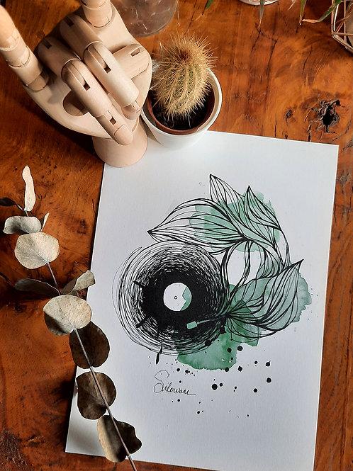 affiche vinyle musique