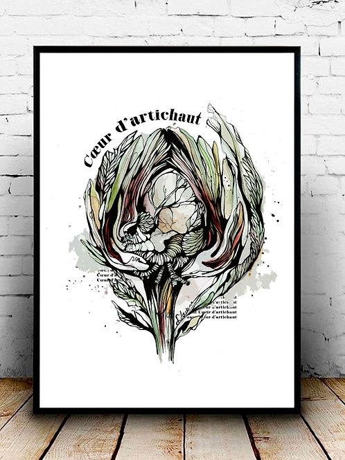 illustration coeur artichaut silowane