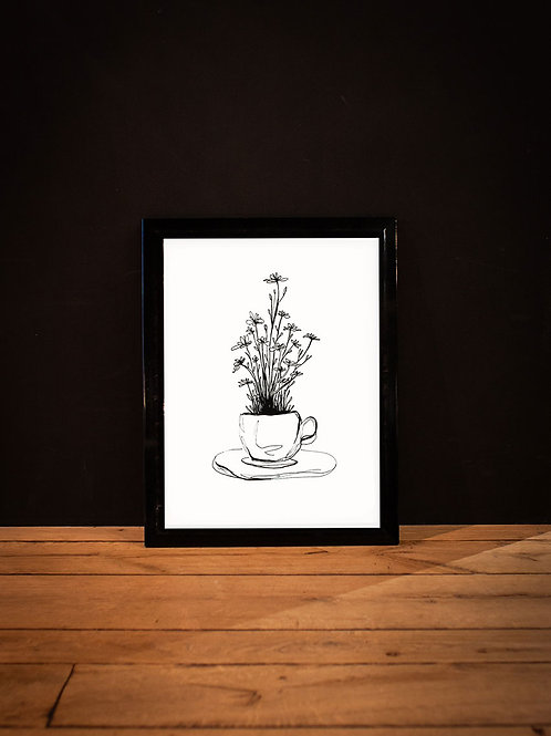 illustration café, dream cadre