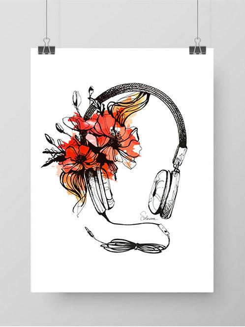 illustration musique - dessin silowane