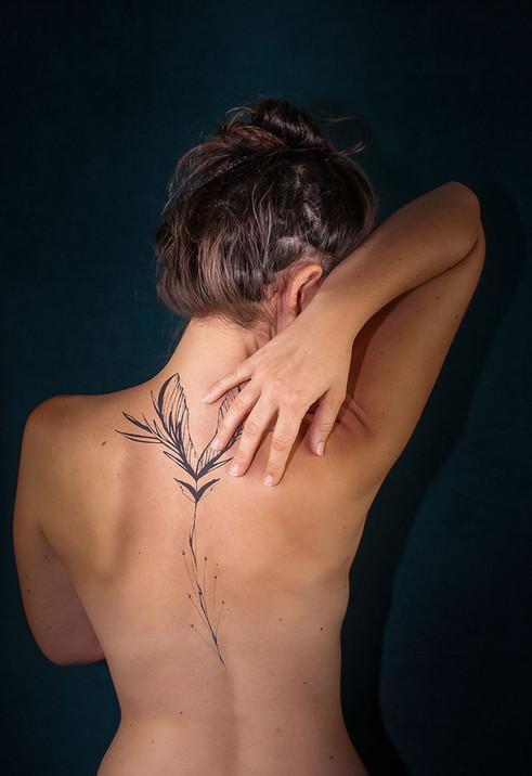 silowane-tatouage-feuille-erable