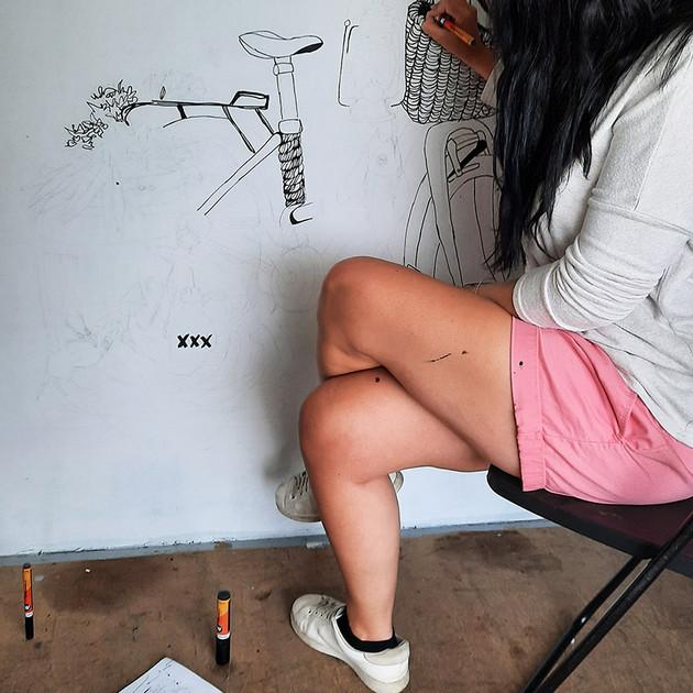 fresque en cours