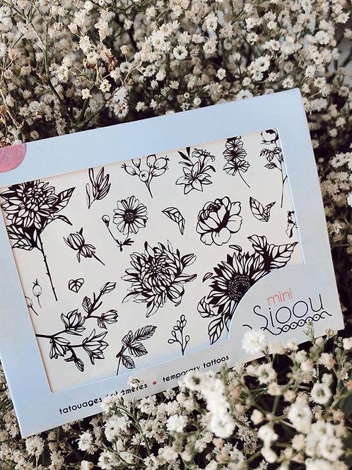 tatouage temporaire mini floral