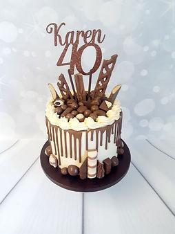 Karens 40 birthday cake.jpg