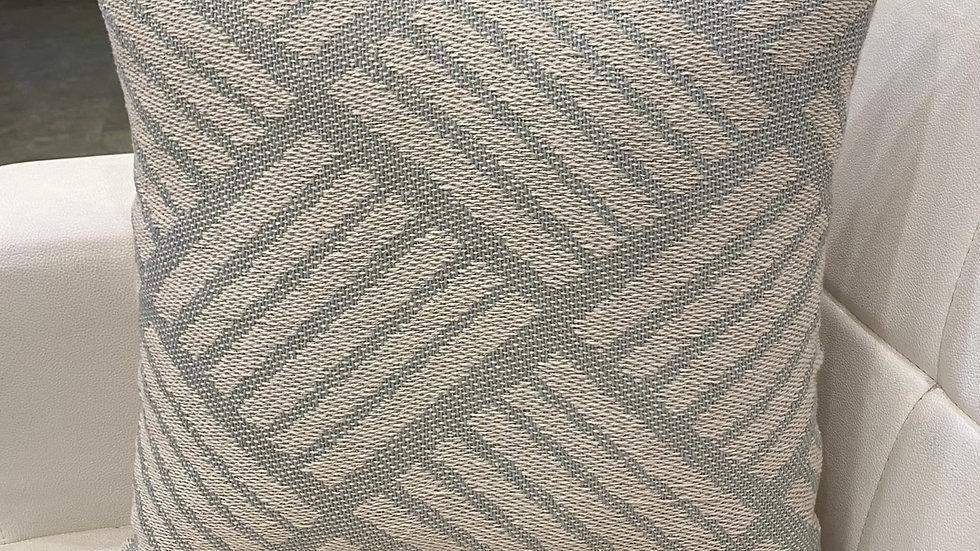 Striped jacquard cushion cover