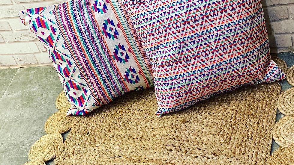 Rug cushion cover combo