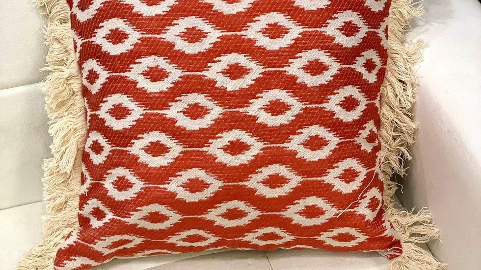 Ikat jacquard pillows cover