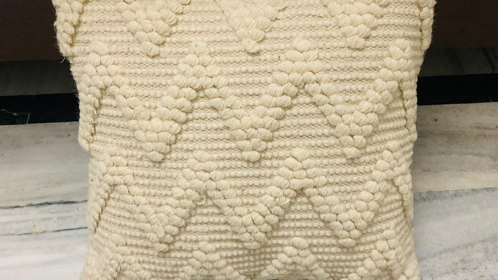 Zig zag natural dhurrie cushion cover