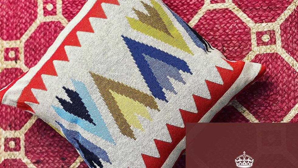 Tribal jacquard cushion