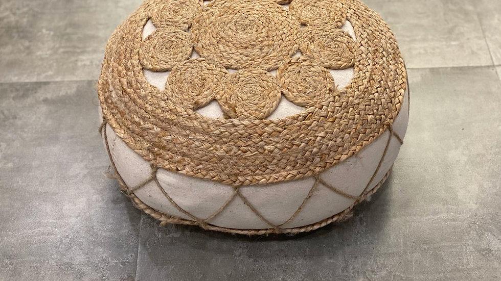 Jute cotton handmade seat cushion