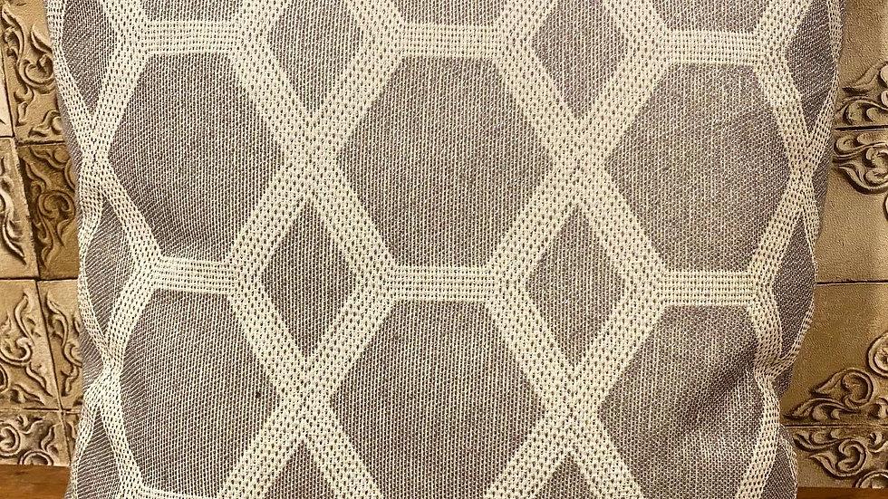 Silver lurex honeycomb cushion cover