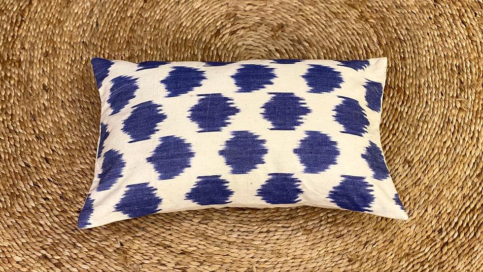 Ikat  jacquard lumbar pillow cover