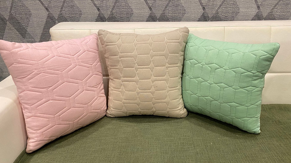 Quilted pastel pillows