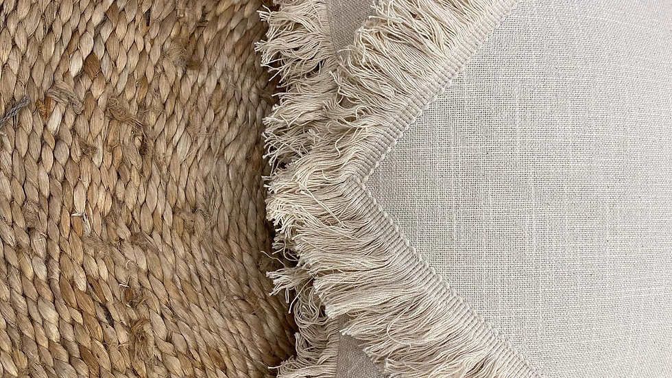 Natural fringes cushion cover