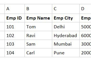 Using Offset Function in Excel