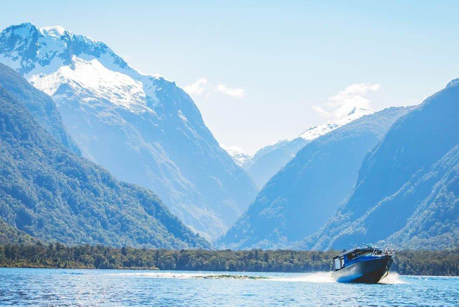 New Zealand Fiordland Four Walks