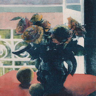 Matisse's Window with Roses