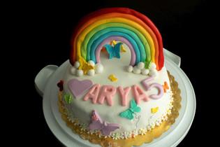 Arya için Gökkuşağı Pasta-1