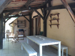 The rear, covered terrace. Much needed shade on a hot summer's day
