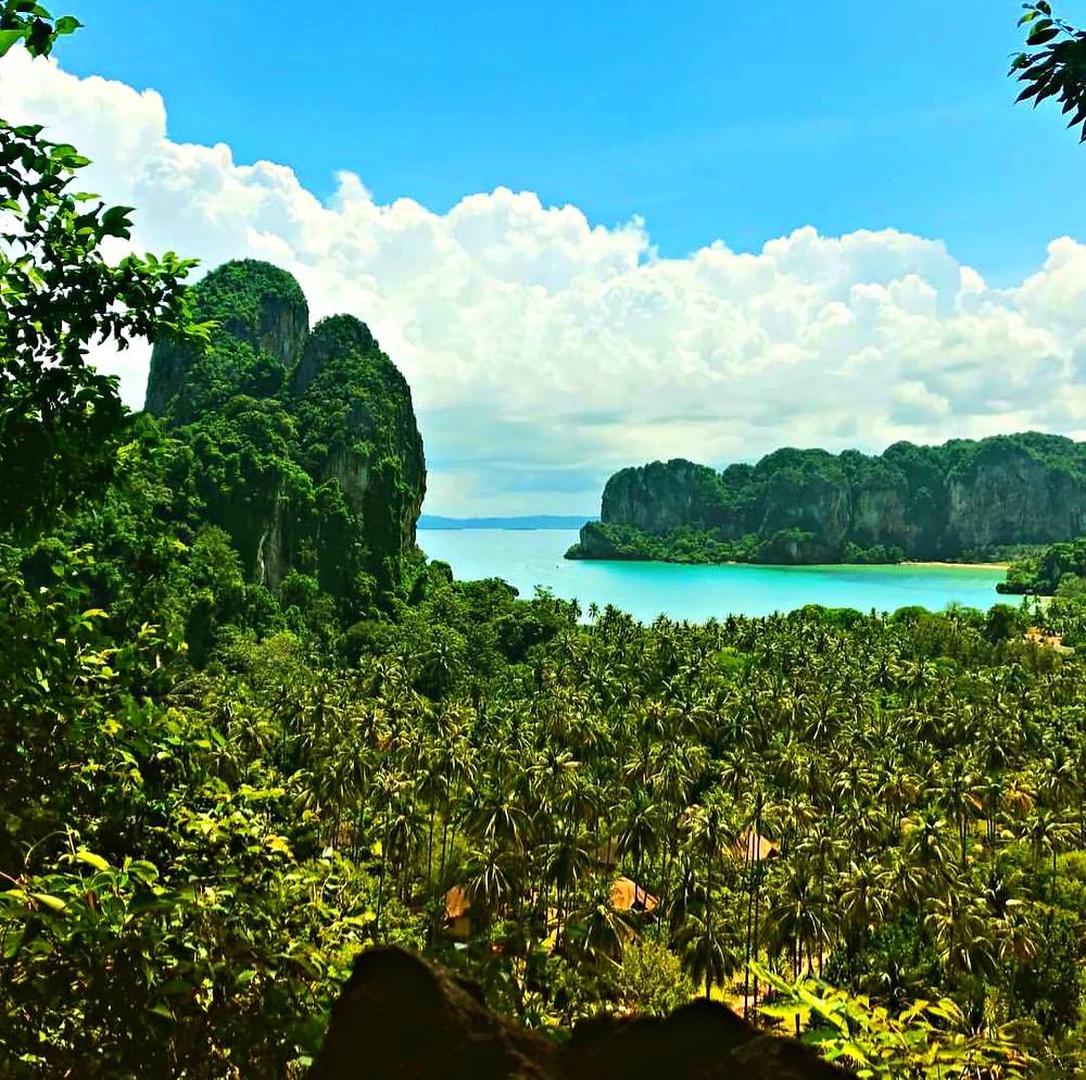 Railay Krabi Thailand ViewPoint and Lagoon