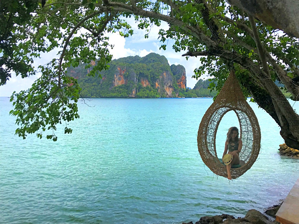 Tew Lay Bar Railay Krabi Thailand Bird Nest Swing