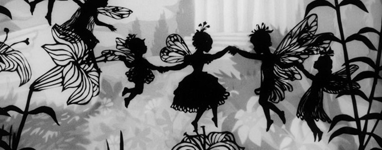 still from Thumbelina by Lotte Reiniger