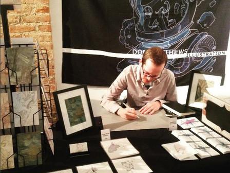 Talented Sci-fi Illustrator Don Matthews will be at Pocket Market!