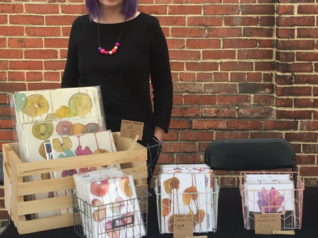 The Inked Fig's Vibrant Mixed Media Work at Pocket Market!