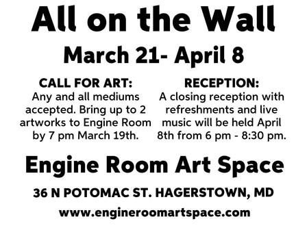 Call for Art! All on the Wall March 21-April 8th