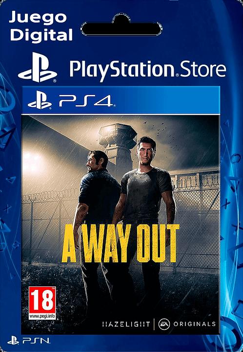 A Way Out Digital para PS4