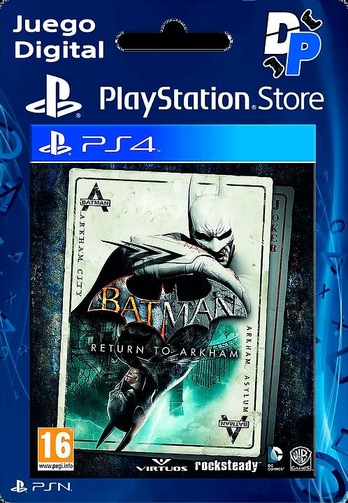 Batman: Return to Arkham Digital para PS4