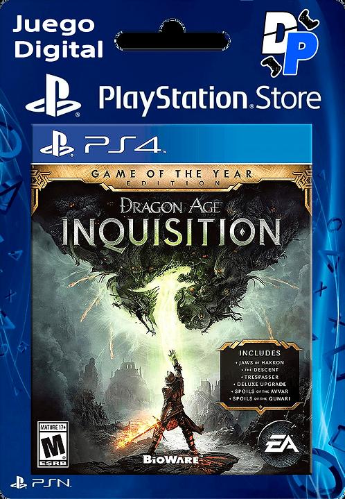 Dragon Age: Inquisition - Edición Juego del año Digital para PS4