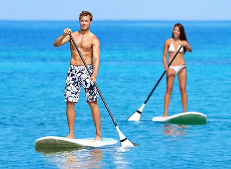 Poniendose en forma con el Paddle Surf