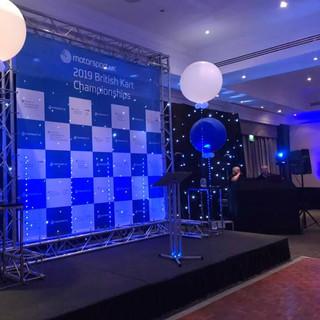 British Kart Championship Awards Stage Design
