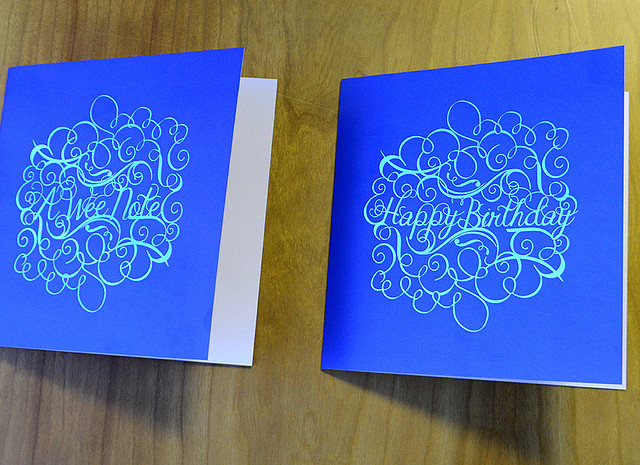 foil printed cards