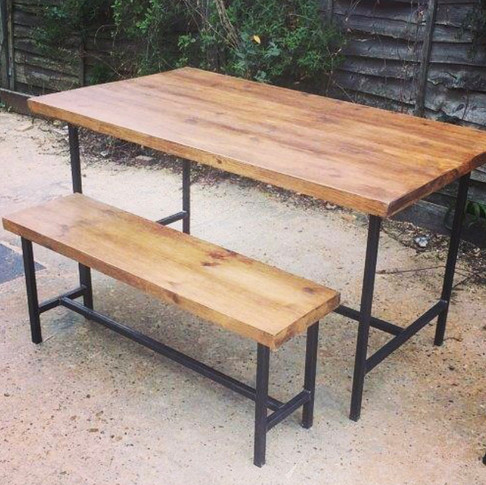 Vintage Table and Bench Set