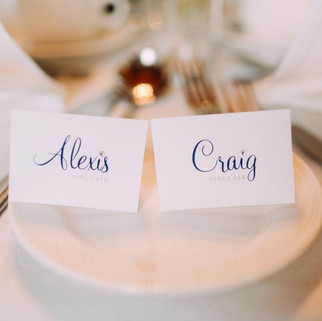Diamonte Name Cards for Alexis & Craig