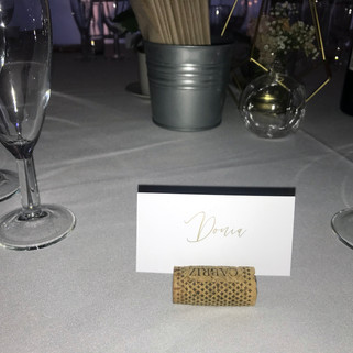 Foil Name Cards